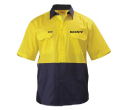 Bisley 2 Tone Cool Lightweight Drill Short Sleeve Shirts