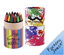 Custom Design Assorted Colour Crayons in Cardboard Tubes