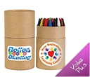 Assorted Colour Crayons in Cardboard Tubes