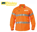 Long Sleeve Hi Vis Closed Front Drill Shirts