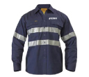 Bisley Long Sleeve Gusset Cuff Drill Shirts 3M Reflective Tape