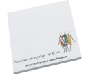 White Post It Notes 150mmx75mm