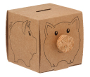 Recycled Cardboard Piggy Bank