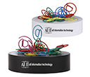 @ Shaped Paperclips On Paperweight Magnetic Base