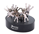 Gymnast Clips On Oval Paperweight / Magnetic Base