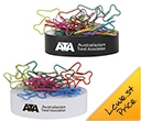 Plane Shaped Paperclips On Paperweight Magnetic Base