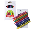 Assorted Colour Crayons in White Cardboard Boxes