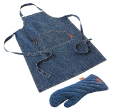 Jamie Oliver Denim Apron and Glove Set