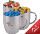 Jelly Beans Double Wall Stainless Steel Curved Mugs