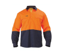 Bisley 2 Tone Closed Front Drill Long Sleeve Shirts