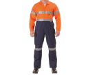 2 Tone Hi Vis Lightweight Coveralls 3M Reflective Tape